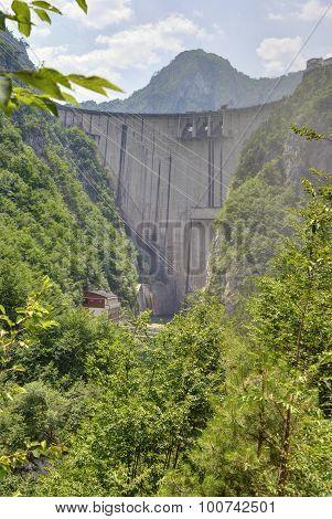 Mratinje dam on the Piva river, Montenegro.