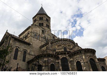 Basilica Of Notre-dame Du Port In Clermont-ferrand In France