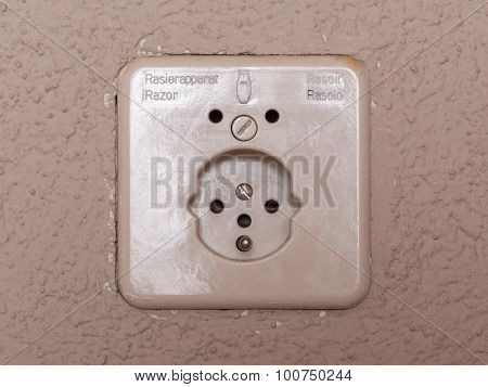 International AC power plug wall socket - Switzerland poster