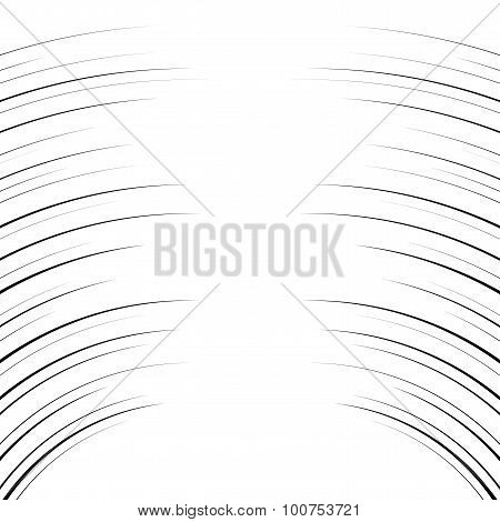 Comic Horizontal Curved Lines Background