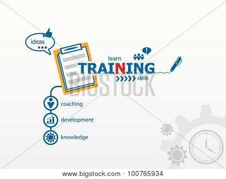 Training Concept For Presentations And Reports