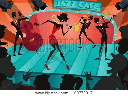 Jazz Band Live On Stage