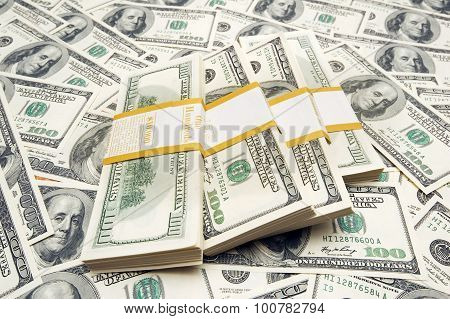 Dollar notes bundle