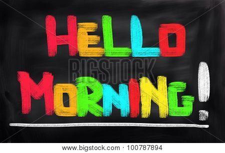 Hello Morning Concept