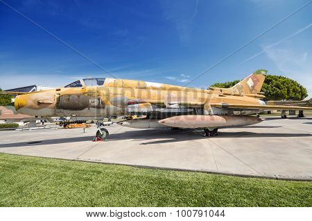 Sovietic Sujoi SU - 22 fighter jet on September 5 2015. Took part in different international conflic