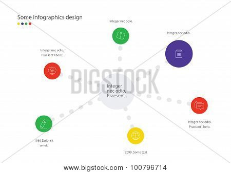 Timeline vector infographic. Minimalistic design template.  Page for presentation.