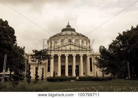 Bucharest, Romania - June 28, 2015: The Romanian Athenaeum Named