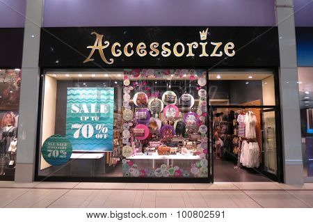 DONCASTER UK - CIRCA AUGUST 2015: Accessorize brand store