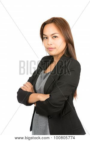 Confident Asian Career Professional Arms Folded