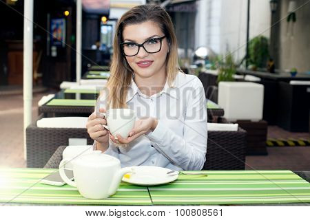 Young Businesswoman Relaxing.