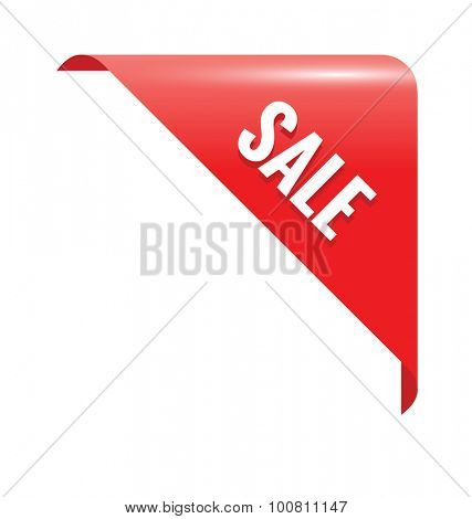 Sale Red Page Corner. Business Ribbon