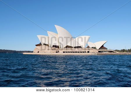 Sydney, Australia - Aug 2015: Side View Of Sydney Opera House, Famous Icon, On August 2015 In Sydney