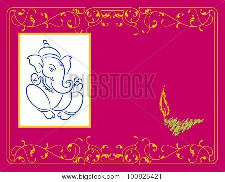 Ganesha The Lord Of Wisdom Vector Art