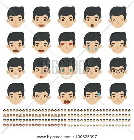 Set Of Emoticons, Faces Icons