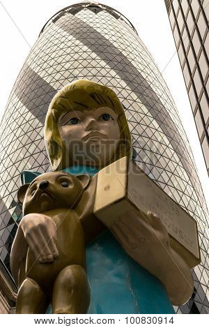 Sculpture In The City Damien Hirst 2015 London Art Installation Titled Charity