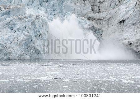 Margerie Glacier Calving, Glacier Bay National Park, Alaska