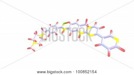 Imatinib molecular structure isolated on white