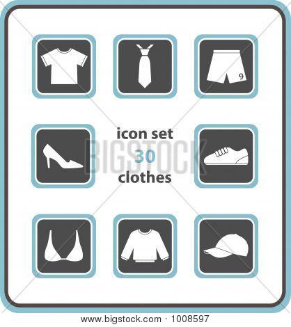 Vector Icon Set 30: Clothes