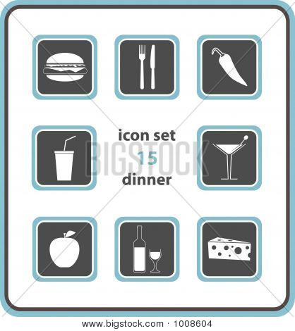 Vector Icon Set 15: Dinner