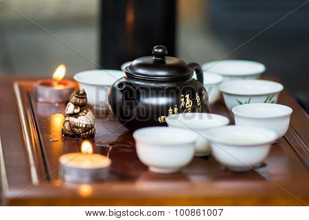 ceremonial tea set for drinking Chinese tea poster