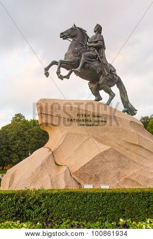 The Bronze Horseman,literally in Russian: Copper horseman, is an equestrian statue of Peter the Grea