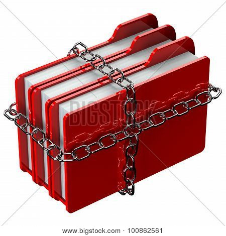 Red Folders With Chain