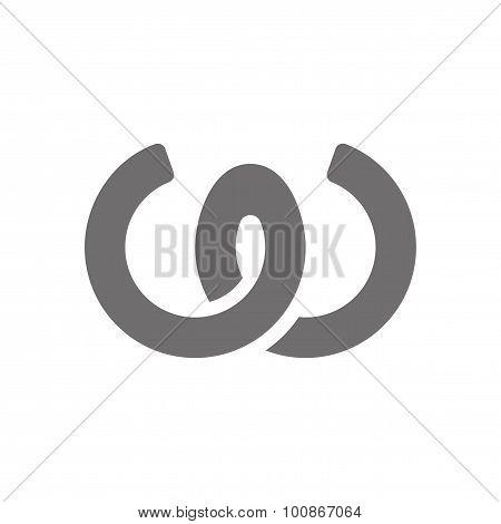Letter W Logo Concept Icon. Vector