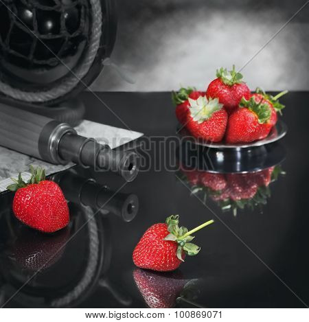 Still Life With Strawberry In Search Of Darling