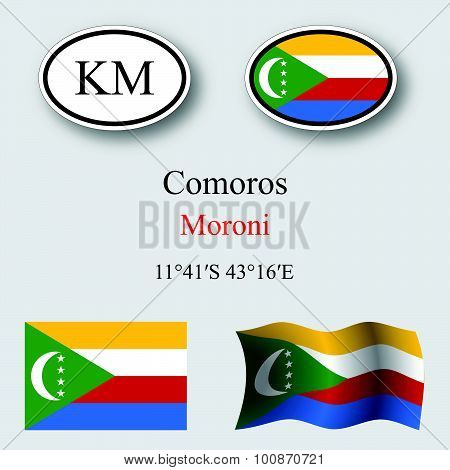 Comoros Icons Set