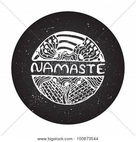 Detailed hand drawn zentangle logo