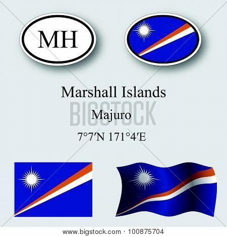 Marshall Islands Icons Set