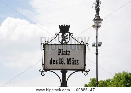 platz des 18. Maerz in Berlin - germany