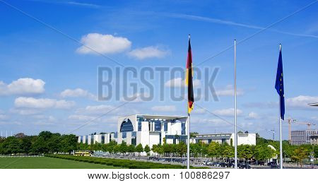 a photo of the chancellery in berlin