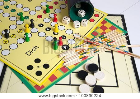 a nice photo of some board games