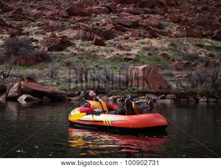 Pack Rafting Glen Canyon, Arizona