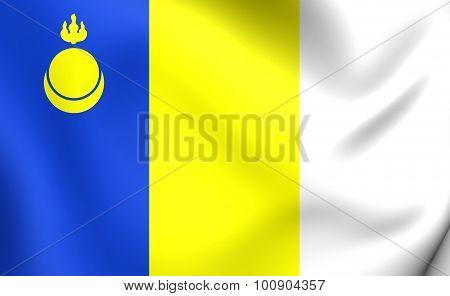 Flag Of Agin-buryat Okrug, Russia.