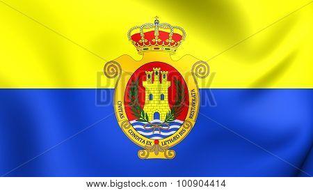 Flag Of Algeciras City, Spain.