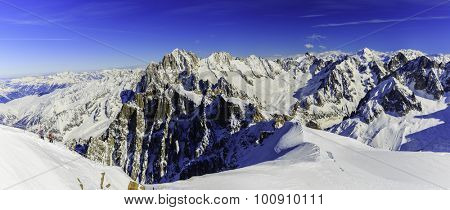 Grand Jorasses view from Aiguille du Midi