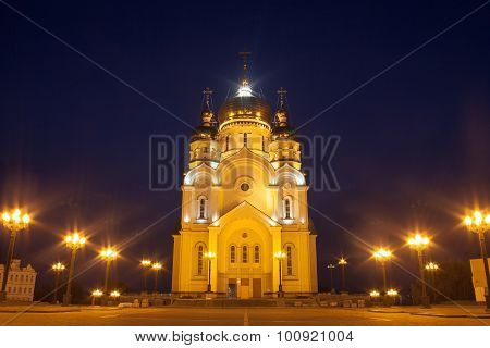 Ortodox Cathedral In Khabarovsk, Russia