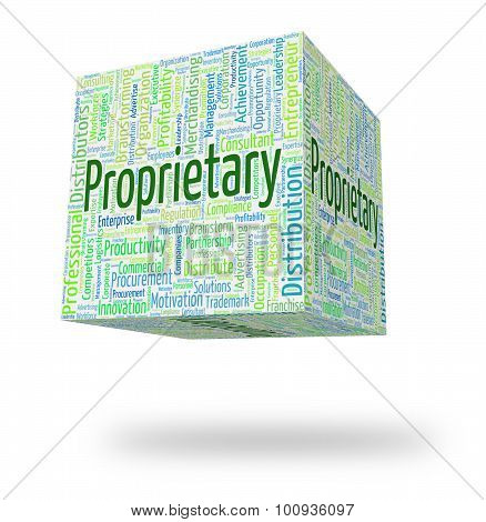 Proprietary Word Indicates Wordcloud Words And Possession