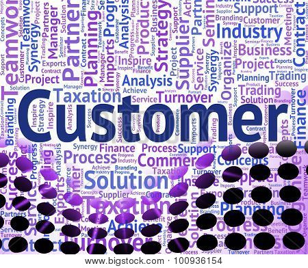 Customer Word Shows Shoppers Consumers And Consumer