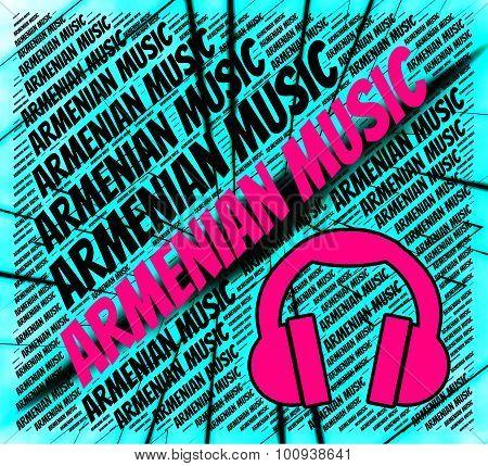 Armenian Music Indicating Aram Khachaturian And Harmony poster
