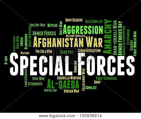 Special Forces Means Military Action And Covert