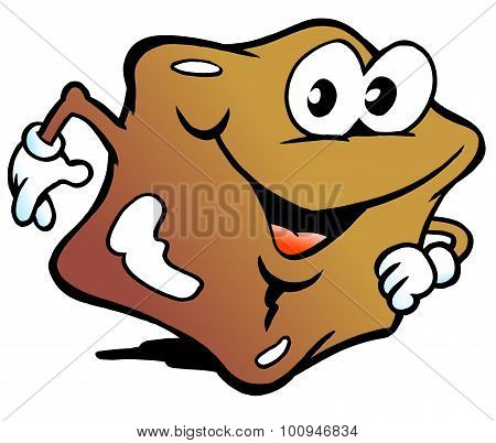 Vector Illustration Of An Happy Candy Caramel Toffee