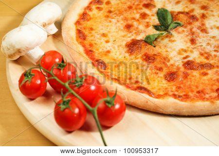 Delicious Italian Pizza On Plate