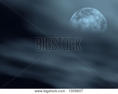 Moon In A Fog