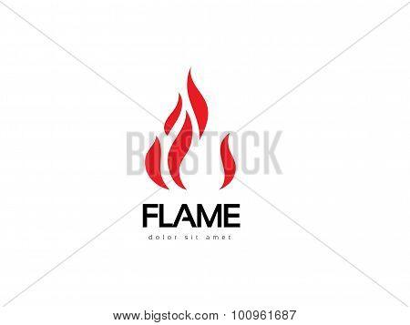 Abstract Flame Logo Design. Creative Fire Logotype. Vector Business Icon.