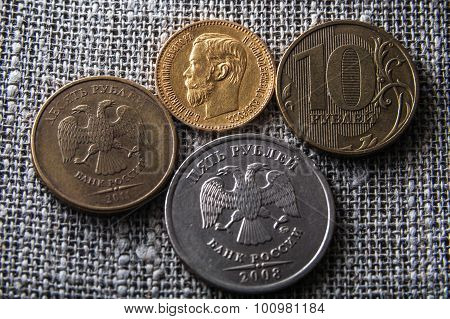 old and new rubles