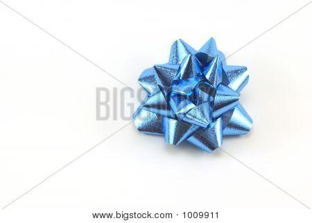 Blue Christmas Bow
