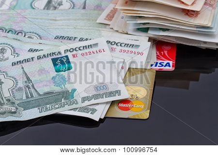 Plastic card payment systems Visa and MasterCard